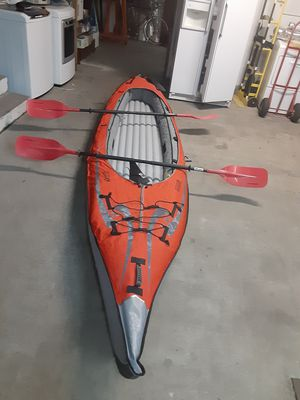 Advanced elements advancedframe convertible inflatable kayak one or two persons for Sale in Bellevue, WA