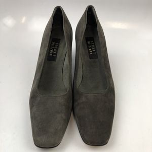Stuart Weitzman 7 US W Women Heels Pump Gray Plain Toe Suede Slip On Solid for Sale in Edinburg, TX
