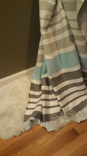 Shower curtain, curtain hooks and bathmat for Sale in Silver Spring, MD
