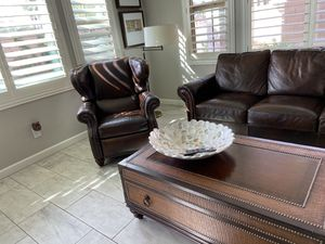 Norwood leather couch and recliner. Gorgeous!! for Sale in Chandler, AZ