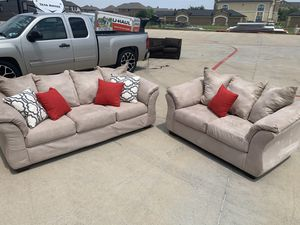 Can deliver - Ashely couch sofa loveseat 2pcs for Sale in Burleson, TX