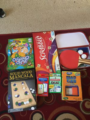 Board games and ping pong table set up for Sale in Manassas, VA