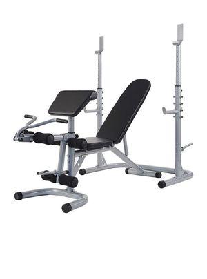 Combo squat rack, bench press, leg curl, leg extension, bicep curl for Sale in Rockville, MD
