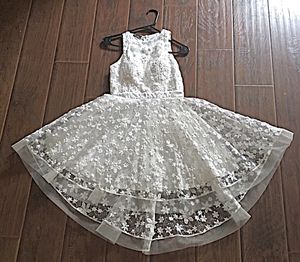 White Flowers Mini Wedding Dress (Negotiable Price) for Sale in Sugar Land, TX