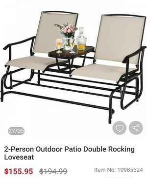 Patio/ Garden Double Rocking Loveseat for Sale in Bakersfield, CA