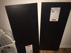 Brand New Black Rubbermaid Shelves for Sale in Portland, OR