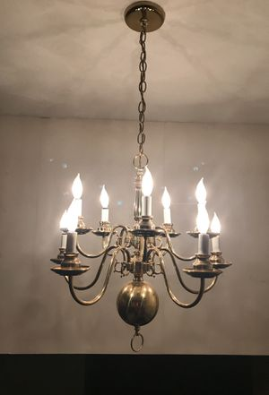 Solid Brass Chandelier for Sale in Middlebury, CT