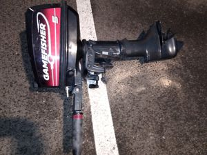 Gamefisher outboard motor 5hp for Sale in Seattle, WA