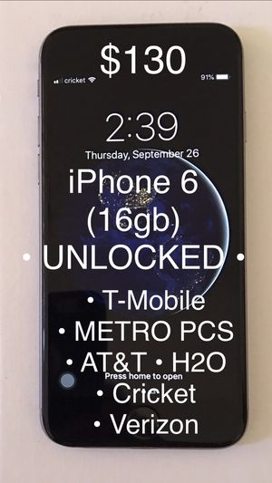 iPhone 6 (16gb) UNLOCKED - for Sale in San Francisco, CA