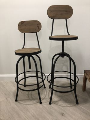 Industrial Farmhouse ADJUSTABLE stool- Set of 5 for Sale in Davie, FL
