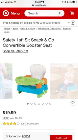 Booster seat for Sale in Pacifica, CA
