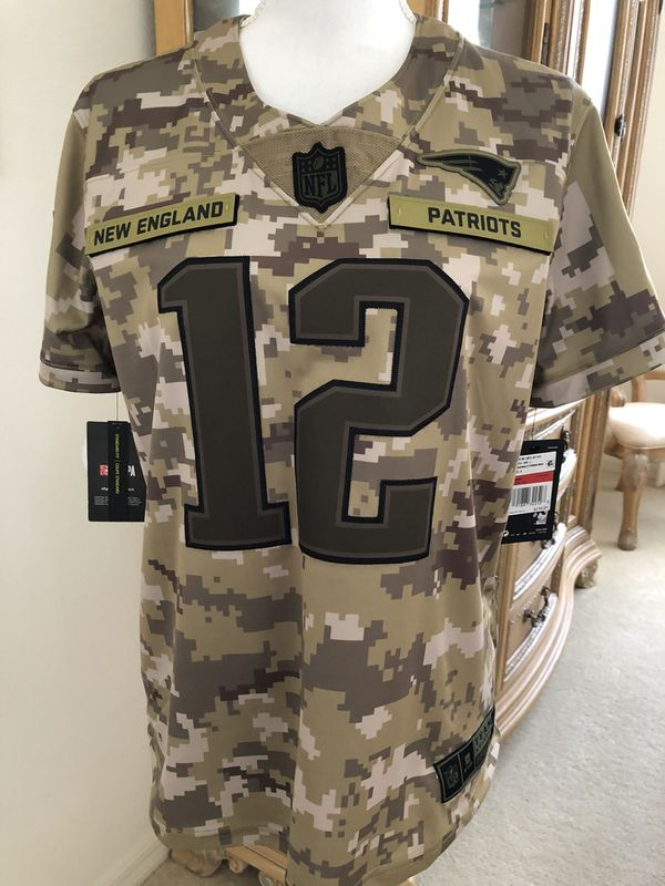 Authentic Nike New England Patriots Tom Brady # 12 Salute to the Military Camouflage Team Jersey Brand New $170