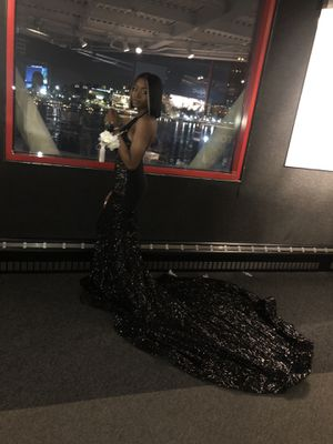 Black sequins prom dress for Sale in Woodstock, MD