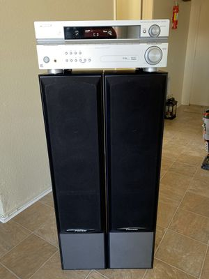 PIONER AV Receiver Stereo Theatre w/speakers for Sale in Santa Ana, CA