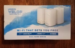 Brand New Linksys Velop AC3900 Dual-Band Mesh WiFi System - 3-Pk & 1 Wall Mount Bundle for Sale in Nashville, TN