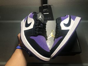 Air Jordan 1 Low Court Purple New 100% AUTHENTIC ONLY $160!! for Sale in Elk Grove, CA