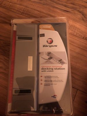 Targus Universal Notebook Docking Station with Video for Sale in Nashville, TN