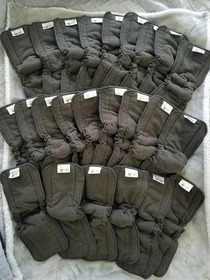 Naturally Natures Cloth Diaper Inserts 5 Layer - Insert - Charcoal Bamboo Reusable Diaper Liners with Gussets (Pack of 24) for Sale in Fort Lauderdale, FL