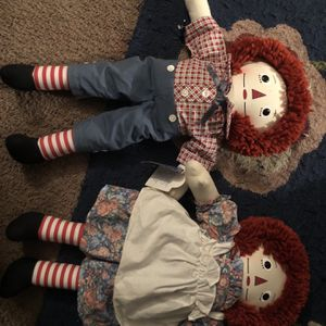 Raggedy Ann and Andy dolls 75th anniversary for Sale in Omaha, NE