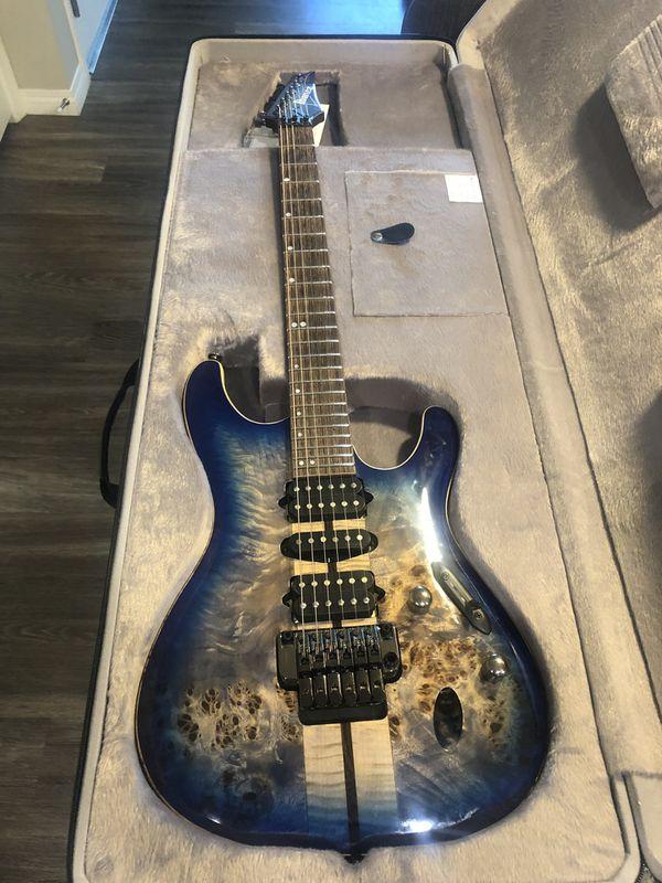 Ibanez S Premium Electric Guitar Cerulean Blue Burst