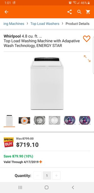 New in box whirlpool cabrio washer and gas dryer for Sale in Las Vegas, NV