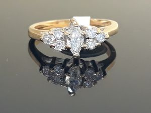 14k Yellow Gold Diamond Engagement Cluster Ring 2.7 grams size 4 for Sale in Fort Pierce, FL