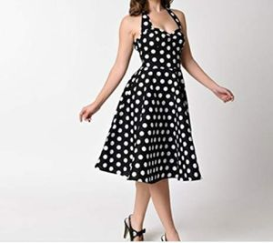 Vintage 90's Retro Pinup Polka Dot Dress for Sale in Pinole, CA