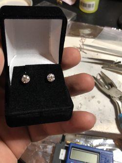 5mm VVS1 Diamond Stud Earrings for Sale in Rock Hill,  SC