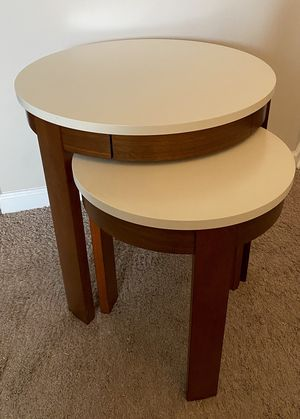 Set of two side/end-tables from Crate&Barrels for Sale in Worthington, OH
