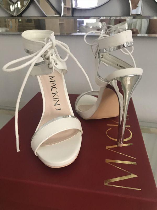 New white, black or beige Sandals Heels