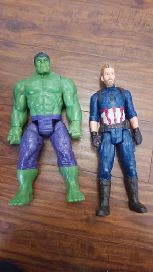 Captain america and hulk toy for Sale in Bonney Lake, WA