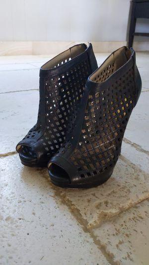 Michael Kors MK Black heels | zapatillas negras size 6 for Sale in Lake Elsinore, CA