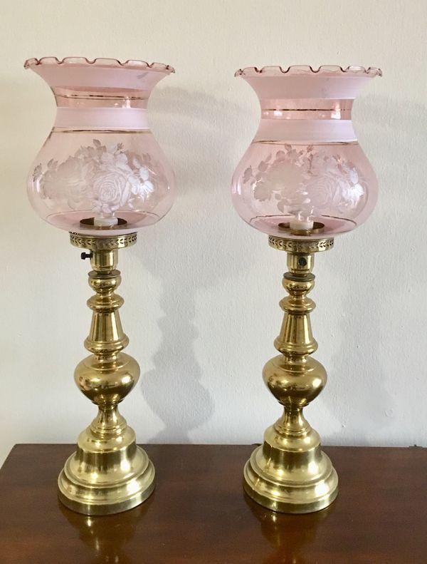 Set 2 vintage lamp