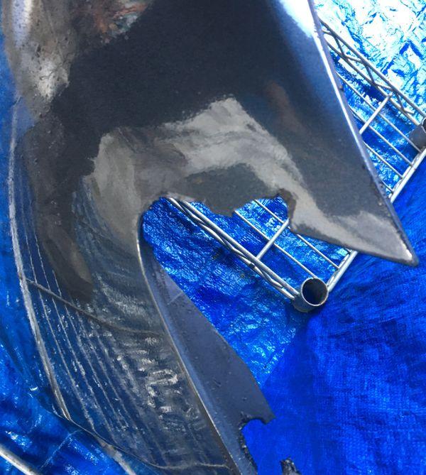 2008 - 2010 INFINITI M35 M45 FRONT BUMPER COVER BLUE