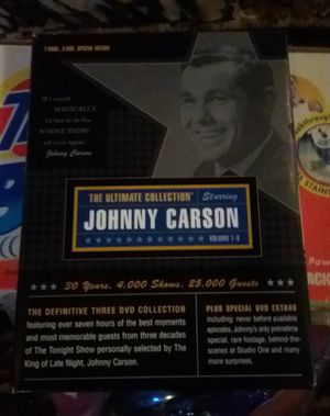 New The Ultimate Collection Starring Johnny Carson Volume 1-3 DVDs $5 for Sale in Ontario, CA