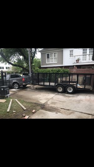 Utility trailer for sale CAGE Trailer 16 x 6.5 double axle excellent condition for Sale in Houston, TX