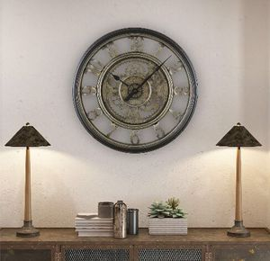20 Inch Antique Style Retro Gear Wall Clock for Living Room Dining Room for Sale in Durham, NC