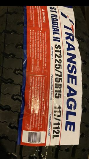 ST225/75R15 NEW 10PLY TRAILER TIRES free installation and balance NO TAX!! for Sale in Los Angeles, CA