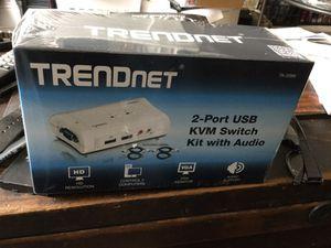 Trendnet 2-port USB KVM switch kit with audio for Sale in Sandy Springs, GA