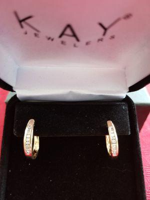 1/4 c, 14 yg diamond earrings. for Sale in York, PA