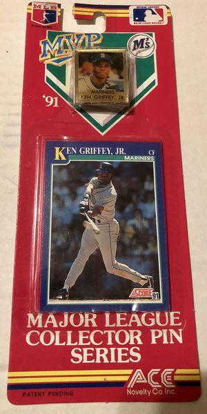 Ken Griffey Jr Baseball card pin for Sale in Zanesfield, OH