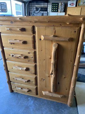 Live Edge Rustic Dresser Armoire - $600 (Littleton) for Sale in Littleton, CO