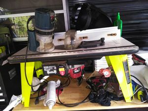 Ryobi router table and router with a extra router for Sale in Jacksonville, FL