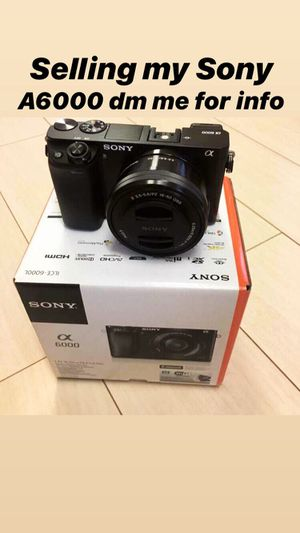 Sony a6000 with Sony Mic ECM - GZ1 for Sale in Bradenton, FL
