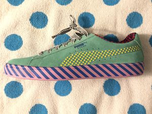 Puma Suede Classic Pop Culture Sneakers Blue/Green/Pink Size 10.5 for Sale in Whittier, CA
