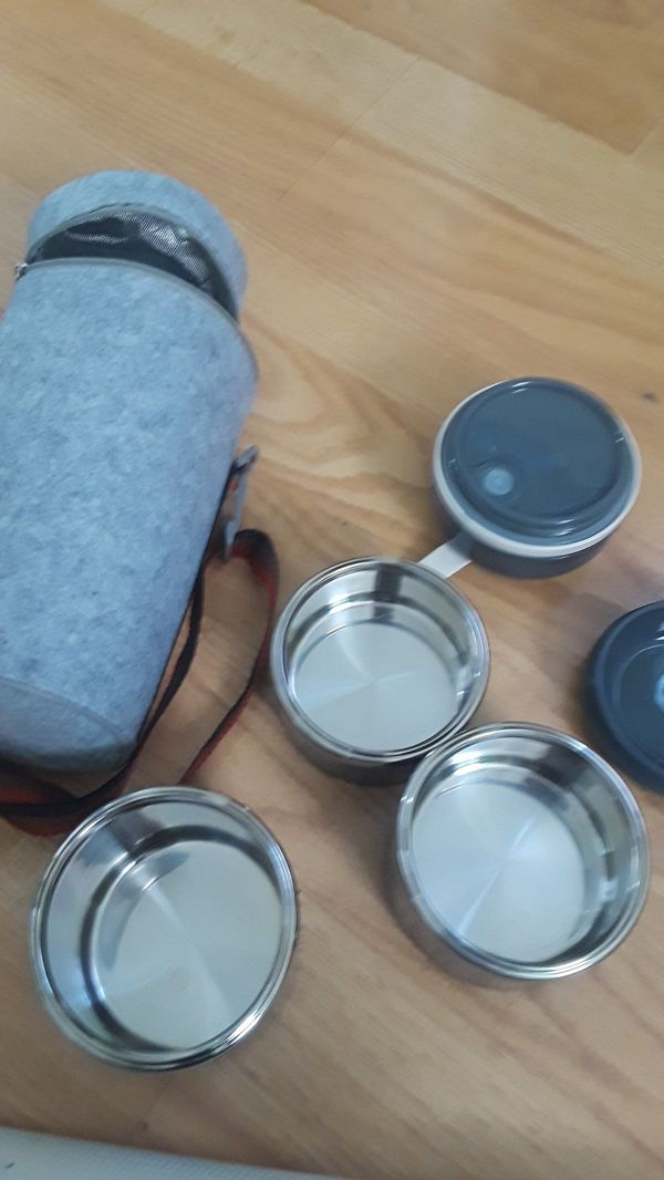 New ArderLive Bento Lunch Box, ArderLive Portable Stainless Steel Insulated Lunch Box with Lunch Bag
