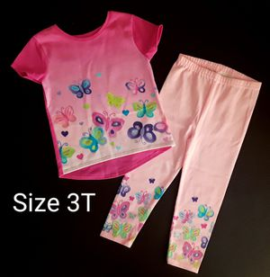 New Cute toddler girl 2 piece set Butterfly Size 3T for Sale in Phoenix, AZ