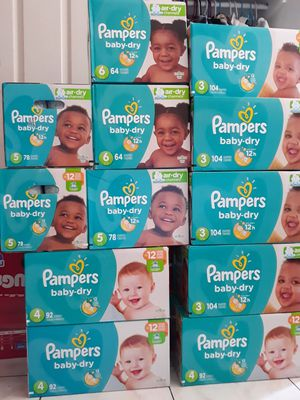 PAMPER BABY DRY SIZE 3, 4, 5, 6 A $22 CADA UNO for Sale in Santa Ana, CA