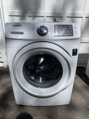 Samsung 4.2 cu ft HE Front Load Washer (Electric) and Samsung 7.2 cu. ft Gas Dryer for Sale in West Hartford, CT
