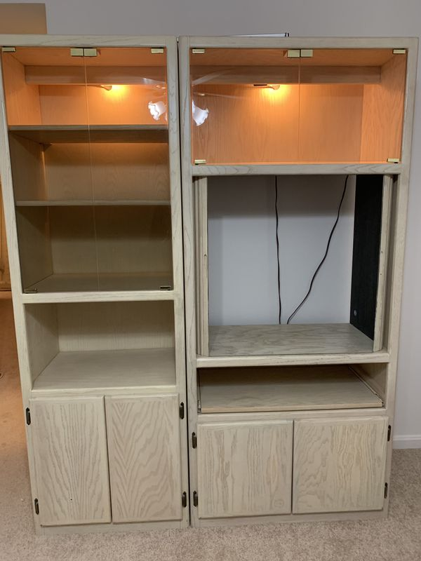 2 piece Wood Wall Unit in Great Condition